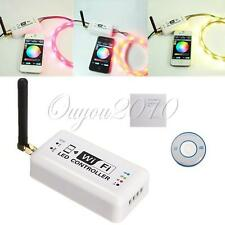 Wireless WiFi RGB LED Strip Controller Remote w/ Antenna For IOS Android Phone