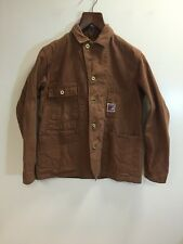 TCB Jeans Hillbilly Cat Brown Chore Jacket Small Japan