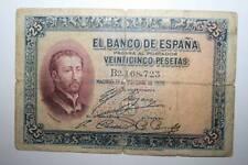 25 PESETAS DE ALFONSO XIII QUE CIRCULÓ EN LA 2ª REPÚBLICA, 1926 BC-