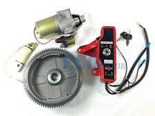 GX160 GX200 ELECTRIC START KIT STARTER MOTOR FLYWHEEL SWITCH 9 ST18+