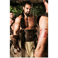 Game of Thrones Jason Momoa as Khal Drogo Looking Angry 8 x 10 Inch Photo