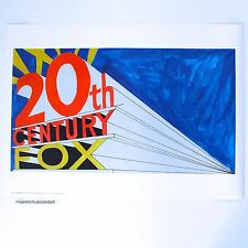 ED RUSCHA 20TH CENTURY FOX 1999 POSTER from LONDON MINT