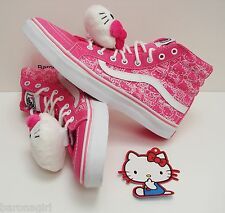 Vans Women's Shoes Limited Edition Hello Kitty Sk8 Hi Slim VN-0QG38M0 Size: 9