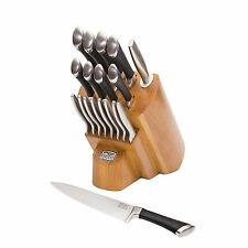CHICAGO CUTLERY Fusion KNIFE BLOCK SET, 18-Piece Stainless Steel KITCHEN KNIVES
