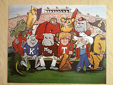 "20x16 Print of ""Ten Original SEC Mascots, dated 1969"""