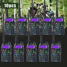 10 PCS BaoFeng UV-5R Green VHF&UHF Dual-Band FM ham 5R radio Walkie Talkie