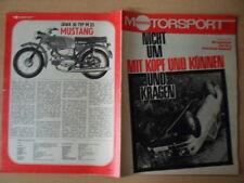 ILLUSTRIERTER MOTORSPORT 1/1973 * Mit Kopf und Können Polski Fiat 126P Jawa 50