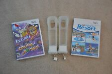 2) Wii MotionPlus Adapters + Wii Sports Resort + Brunswick Zone Cosmic Bowling