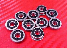5pcs F606-2RS (6x17x6 mm) Flanged Metal Rubber Sealed Ball Bearing F606RS