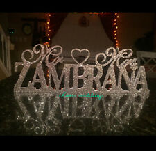 Mr & Mrs With Last Name- Mr and Mrs Last Name Table Sign- Personalized Wedding