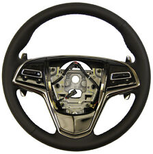 2013 Cadillac ATS Steering Wheel Black Leather W/Paddle Shift 23114404 22965024
