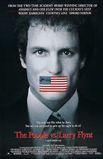 THE PEOPLE VS. LARRY FLYNT (1996) ORIGINAL MOVIE POSTER  -  ROLLED