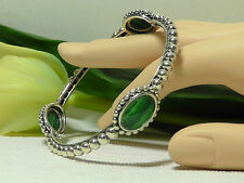 Lagos Maya Sterling Silver Oval Malachite Bangle Bracelet. Size M***NEW***$595**