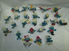 VINTAGE 1970's SCHLEICH PEYO The Smurfs PVC Figure Lot of 25
