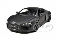 AUDI R8 MATT BLACK 1/24 DIECAST CAR MODEL BY WELLY 22493