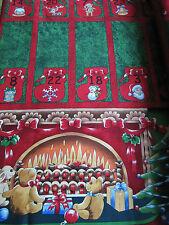 & Patchwork Quilting Tessuto Di Cotone Natale CALENDARIO DELL'AVVENTO PANNELLO NUTEX 89000