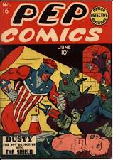 PEP  60+Comics. The Shield.The Comet.Archie.Sergeant Boyle.The Fireball.on Disk