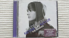 Justin Bieber Never Say Never The Remixes (Rare/N Mint) UK CD NEVER PLAYED