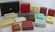 15 Vintage Jewelry Presentation Box Lot assorted Size Colors Store Display