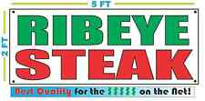 RIBEYE STEAK Banner Sign NEW Larger Size Best Quality for The $$$ Fair Food