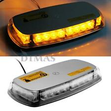 Car Roof Top Yellow 24 LED Magnetic Emergency Warning Strobe Light Lamp 7 Modes