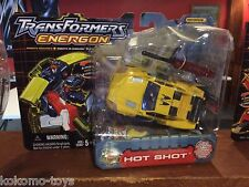 2003 Transformers Energon Long Card Action Figure MOC - HOT SHOT
