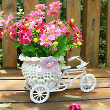 Plastic Tricycle Bike Design Flower Basket For Flower Plant Weddding Decoration