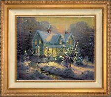 "Thomas Kinkade Blessins of Christmas 20"" x 24"" LE S/N Canvas (Gold Frame)"