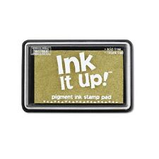 Ink Stamp Pad Ink It Up GOLD NON TOXIC  Premium Pigment Based Stamp Pad Darice