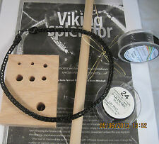 Black Necklace VIKING KNIT Necklace KIT & INSTRUCTIONS black WIRE #0