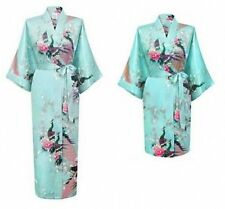 Promotional Bride Long/Short Women Kimono Robe satin Night dressing Gown 2016