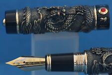 Jinhao Dragon No. 999 Series Fountain Pen, Antique Green & Black Lacquer