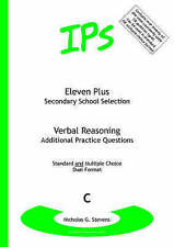IPS 11+ ELEVEN PLUS VERBAL REASONING ADDITIONAL PRACTICE QUESTIONS SET C DUAL