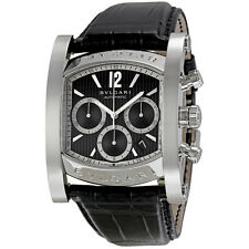 Bvlgari Assioma Black Dial Chronograph Watch AA48BSLDCH