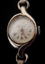 Vintage Ladies Elgin 19 Jewels 10k RGP Wrist Watch - Needs Cleaning