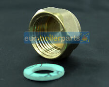 "WASHING MACHINE / DISHWASHER END CAP, BLANKING CAP AND WASHER 3/4"" BRASS END END"