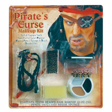Cursed Pirate Complete Makeup FX Kit Halloween Costume Accessory with teeth