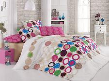 3 tlg. Renforce Baumwolle Bettwäsche Bettgarnitur 200x200 cm Benetton Pink