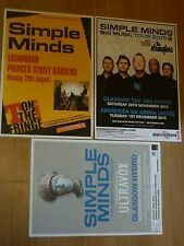 Simple Minds Scottish tour concert gig posters x 3