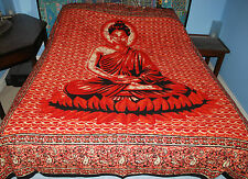 New Buddha Double Bedspread Throw - Hippy Fairly Traded Ethnic Buddhism Hippie