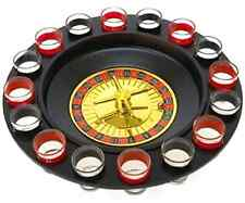 Drinking Game Roulette Shot Set Glass Party Wheel Bar 16 Glasses Adult Fun