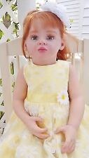 "Emilia by Natali Blick LE Reborn Toddler Baby Doll 31"" COA by Lazy Kitty Nursery"