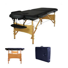 "84""L Portable Massage Table Facial SPA Bed Tattoo w/Free Carry Case Black"