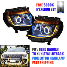 H1 XENON HEAD LIGHT LAMP LED PROJECTOR FOR FORD RANGER UTE T6 2012 13 14 15 PICK