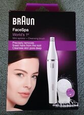 Braun FaceSpa Mini Epilator + Cleansing Brush - Face Spa