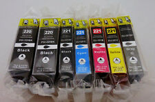 7PK PGI220 CLI221 Ink Cartridge for Canon PIXMA MP990 MP980 MX870 MX860 iP4680