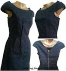 BN NEXT NAVY COTTON BRODERIE ANGLAISE LACE LINED SHIFT PARTY DRESS TUNIC 8-18