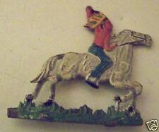 @ JOUET ANCIEN, INDIEN SUR SON CHEVAL EN PLOMB TRES PLAT