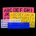 4 x A-Z & 0-9 STENCIL Alphabet LETTERS & NUMBERS 7mm/12mm/20mm/30mm Stensil NEW