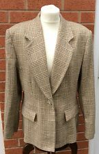 Jaeger England Ladies new wool check jacket, size 16